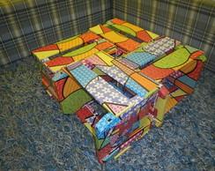Mesa de centro de caixote - Colorido