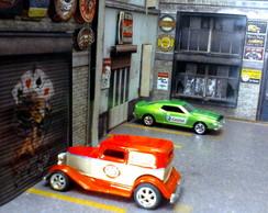 Diorama em 3D para carrinhos HotWheels