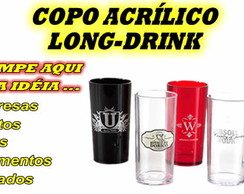 COPO ACR�LICO LONG-DRINK PERSONALIZADO