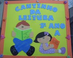 Cartaz Cantinho da leitura