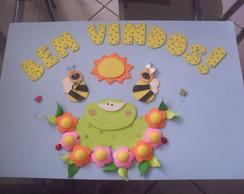 """Cartaz Bem Vindos """"Jardim"""""""