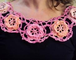 005 Crr- Gola de Croch�- Linha Tons Rosa