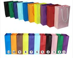 Sacola de papel coloridas 15x24x7 cm