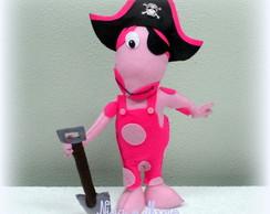 Uniqua Pirata em Feltro