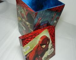 Caixa quadrada Homem Aranha