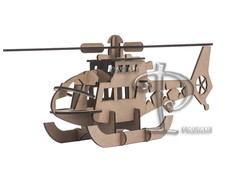 Helic�ptero 3D - quebra cabe�a 3D