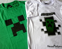 Camiseta Minecraft Adulto/Infantil