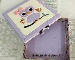 Caixa em MDF personalizada corujinha