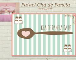 Ch� de Panela Painel IMPRESSO LONA