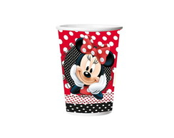 Copo Papel 330 ml Red Minnie