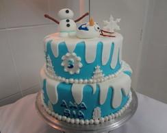 Bolo Cenogr�fico Frozen