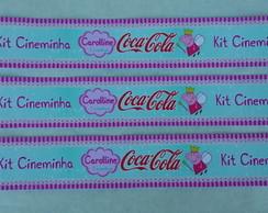 R�tulo Mini Coca-Cola - Peppa Pig