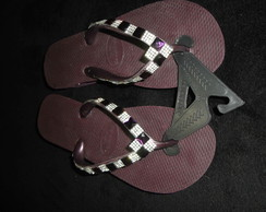Havaianas High c/strass na lateral-nr.36