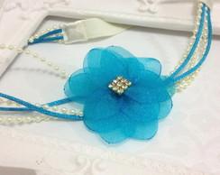 Tiara PRINCESA ELSA champagne & azul