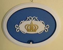 Quadrinho Oval - Coroa de Pr�ncipe Azul