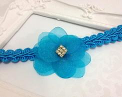 Tiara de renda PRINCESA ELSA azul