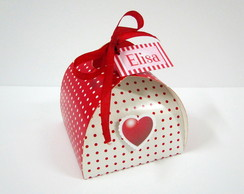 Caixinha Lembran�a + Tag Sweetheart