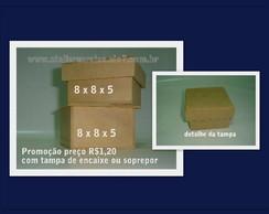 caixa com tampa de encaixe ou sobrepor