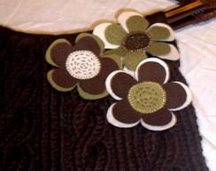 Bolsa em tricot florida