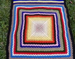 Colcha\Manta em squares retangular color