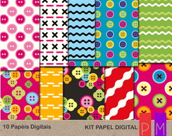 Kit Papel Digital Bot�es Lalaloopsy