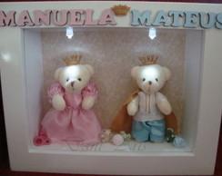 Porta Maternidade Proven�al Urso gemeos