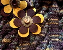 Bolsa tricot tran�ada florida