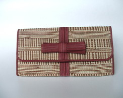 Clutch La�o de Palha Natural Bicolor