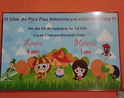 Convite Tema Sitio Pica Pau Amarelo