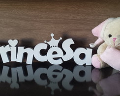 Palavra Princesa com Coroa e cora��o