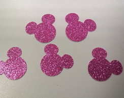 Carinha da Minnie Papel Scrapbook Glitte