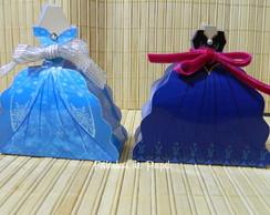 Caixa vestido Frozen Elsa e Anna