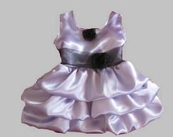 Vestido de Cetim Lil�s