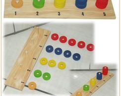 �baco De 1 A 5 - Brinquedos Educativo Em