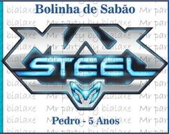 R�tulo Bolinha de Sab�o max steel