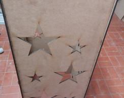 Cubo para P� de Mesa - Estrela - 6mm