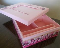 caixa decoupage infantil com porta foto