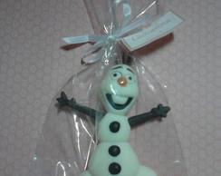 lembrancinha Olaf aplique em biscuit.