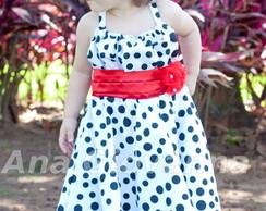 Vestido Infantil Bolinhas