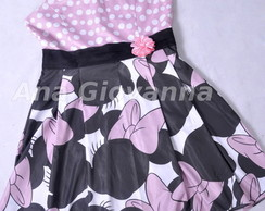 Vestido Minnie Rosa Adulto