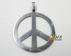 Pingente Simbolo da Paz em a�o inox