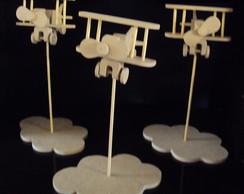 Avi�o centro de mesa com suporte nuvem