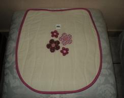 Jogo Banheiro Rosa Flores