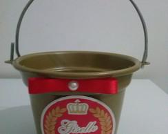 Baldinho Alum�nio Dourado