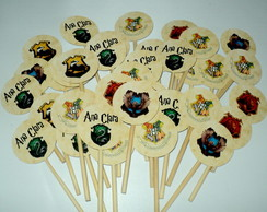 Kit 100 Toppers Harry Potter