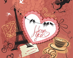 Kit Clipart Vintage Conjunto Paris