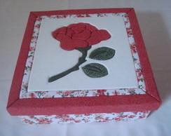 Caixa Lilian Flor Vermelha