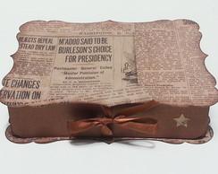 Caixa de Papel Vintage - Jornal