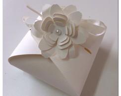 Caixinha Bem Casado - Flor 3D