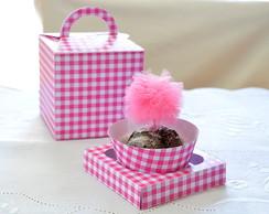 Caixa Cupcake Lembrancinha Festa Cores